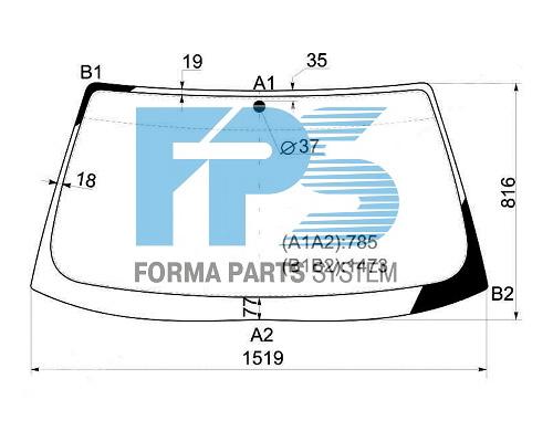 ЛОБОВОЕ СТЕКЛО на BMW 5 (E34) 1987-1995